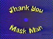 Thank You Mask Man Cartoon Picture