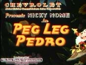 Peg Leg Pedro Cartoon Picture