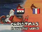 Christmas Round The World Free Cartoon Picture