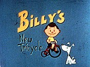 Billy's New Tricycle Cartoon Picture