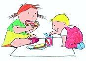 Filles Et Gar�ons (Girls And Boys) Picture Of Cartoon
