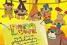 Papa L�we Und Seine Gl�cklichen Kinder