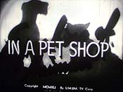 In A Pet Shop Free Cartoon Picture