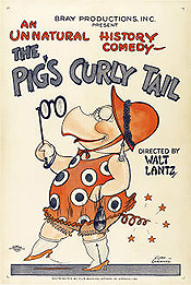 The Pig's Curly Tail Cartoon Picture