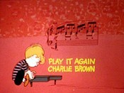 Play It Again, Charlie Brown Cartoon Character Picture