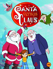 Santa Vs. Claus Cartoon Picture