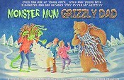 Monster Mum Grizzly Dad Cartoon Picture