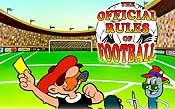 The Official Rules of Football Free Cartoon Picture
