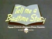 Tell Me A Badtime Story Free Cartoon Picture
