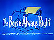 The Boss Is Always Right Picture Of Cartoon