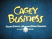 Cagey Business Cartoon Picture