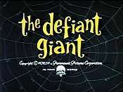 The Defiant Giant Cartoon Character Picture