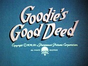 Goodie's Good Deed Free Cartoon Picture