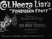 Col. Heeza Liar's Forbidden Fruit Cartoon Picture