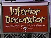 Inferior Decorator Cartoon Picture