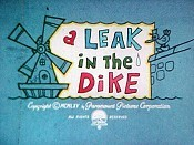 A Leak In The Dike Cartoon Picture