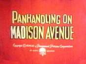Panhandling On Madison Avenue Cartoon Picture