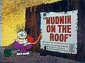 Nudnik On The Roof Cartoon Funny Pictures