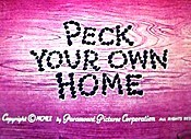 Peck Your Own Home Cartoon Picture