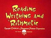Reading Writhing And 'Rithmetic Free Cartoon Picture