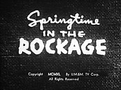 Springtime In The Rockage