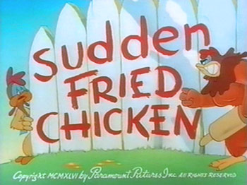 Sudden Fried Chicken Cartoon Character Picture