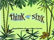 Think Or Sink Cartoon Picture