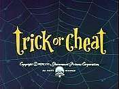 Trick Or Cheat Cartoon Picture