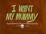 I Want My Mummy Free Cartoon Picture