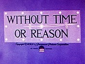 Without Time Or Reason