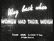 Way Back When Women Had Their Weigh Unknown Tag: 'pic_title'