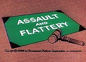 Assault And Flattery Free Cartoon Picture