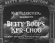 Betty Boop's Ker-Choo Picture Of The Cartoon