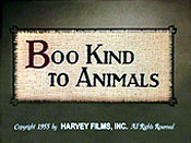 Boo Kind To Animals Cartoon Character Picture