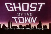 Ghost Of The Town Cartoon Picture