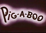 Pig-A-Boo Cartoon Picture