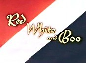 Red White And Boo Cartoon Character Picture
