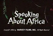 Spooking About Africa Cartoon Character Picture