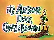 It's Arbor Day, Charlie Brown Cartoon Picture