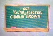 You're Not Elected, Charlie Brown Cartoon Picture