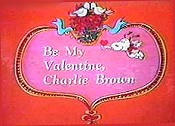 Be My Valentine, Charlie Brown Cartoon Picture