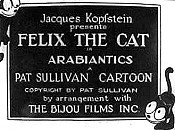 Felix The Cat In Arabiantics Cartoon Picture