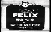 Felix Minds The Kid Cartoon Picture
