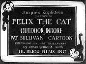 Felix The Cat In Outdoor Indore Cartoon Picture