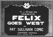 Felix Goes West Pictures To Cartoon