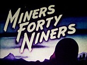 Miners Forty Niners Cartoon Picture