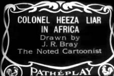 Colonel Heeza Liar Theatrical Cartoon Logo