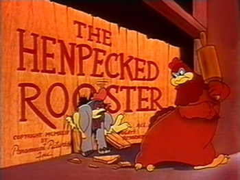 The Henpecked Rooster Cartoon Character Picture