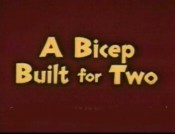 A Bicep Built For Two Cartoon Picture