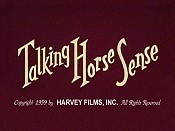 Talking Horse Sense Cartoon Picture
